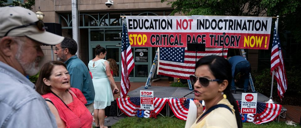 Anti Critical Race Theory Sign Getty