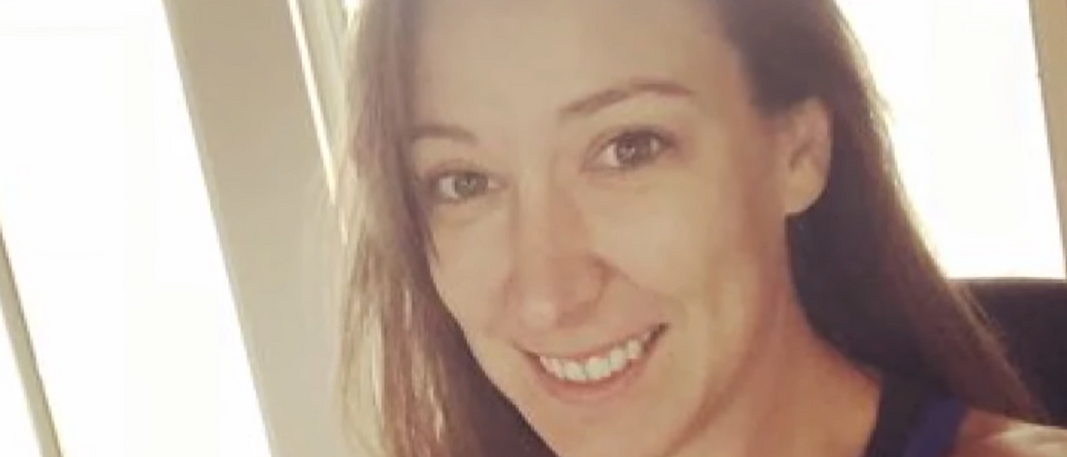 A photo taken of Ashli Babbitt. [Youtube:Screenshot:CBS 8 San Diego]