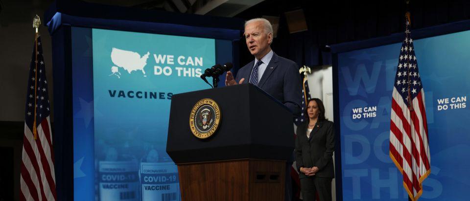 Biden At Podium Getty