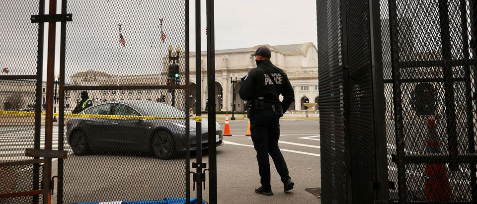 Temporary Security Fencing Around U.S. Capitol Is Taken Down