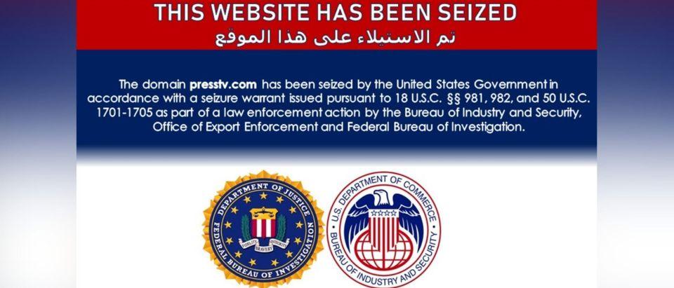 Press TV Seizure Message - US Govt