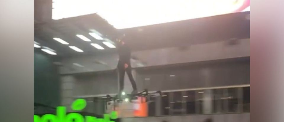 Man On Hoverboard in NYC