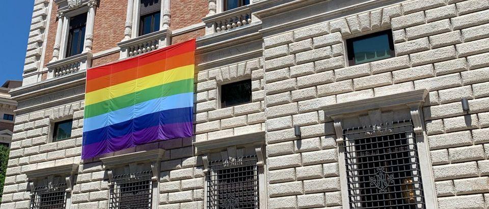 US Embassy Pride Progress Flag Blinken