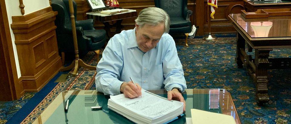 Greg Abbott Texas Legislature Veto Reform