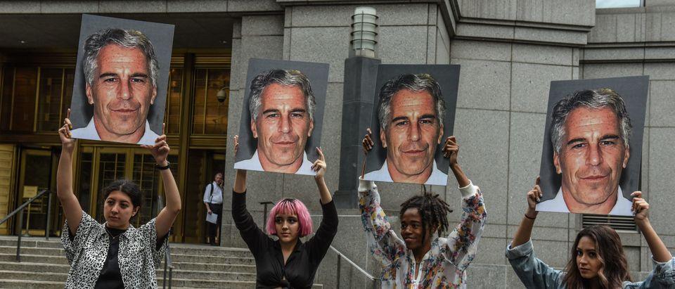 Jeffrey Epstein Protest Getty