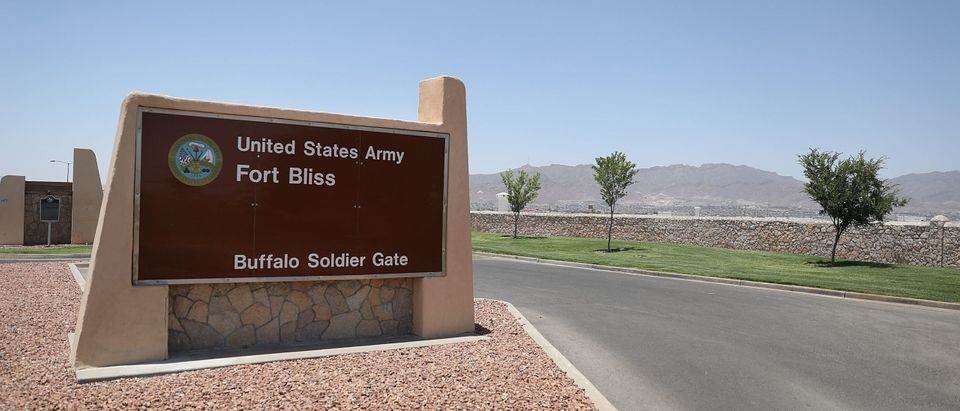 Fort Bliss Sign Getty
