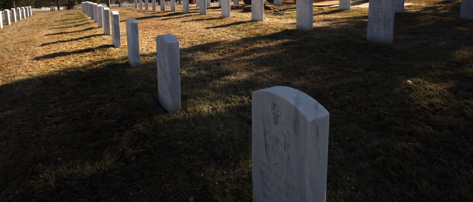 Fort Logan National Cemetery. Photo by John Moore. Getty.
