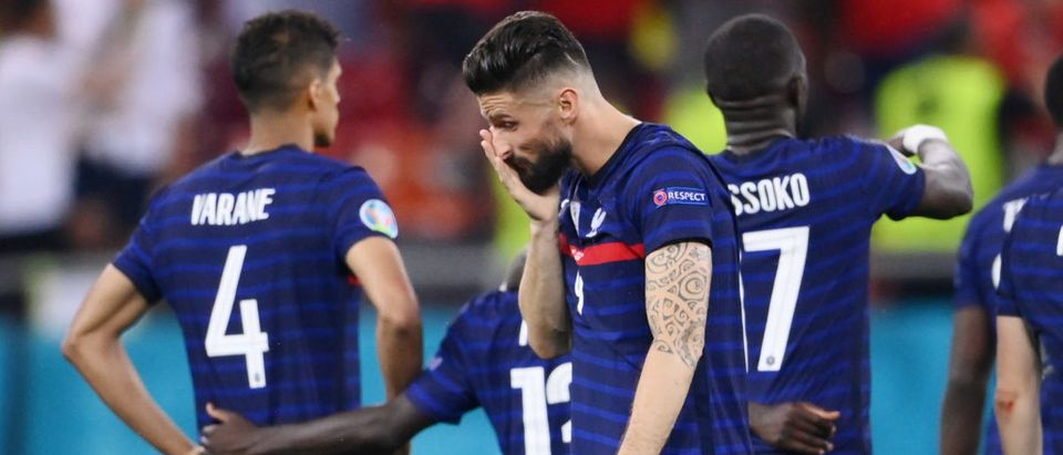 Soccer Football - Euro 2020 - Round of 16 - France v Switzerland - National Arena Bucharest, Bucharest, Romania - June 29, 2021 France's Olivier Giroud looks dejected after losing the penalty shoot-out Pool via REUTERS/Franck Fife