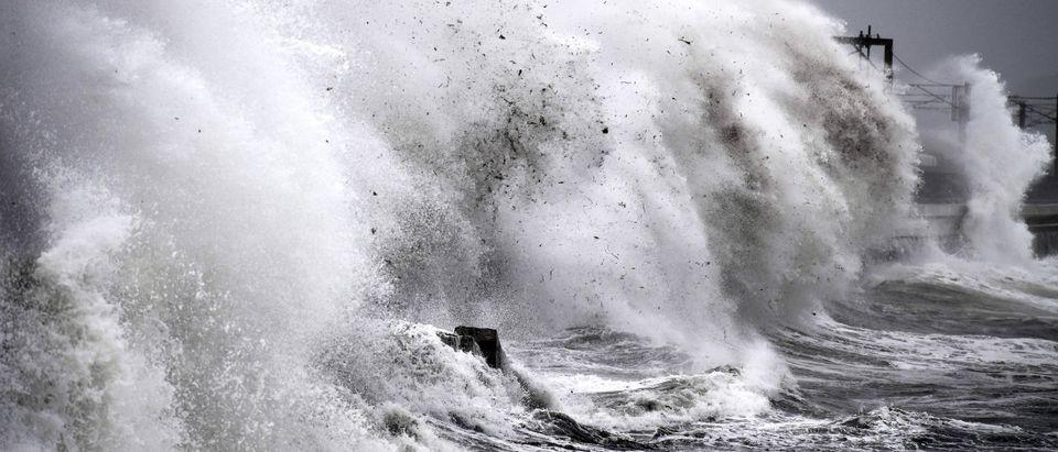 Storm Callum Makes Landfall In The UK