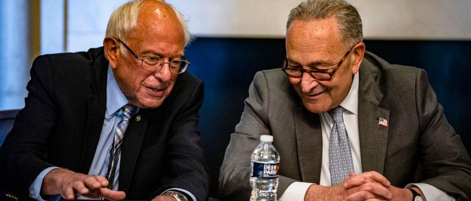 Senate Majority Leader Chuck Schumer Meets With Democratic Members Of Senate Budget Committee