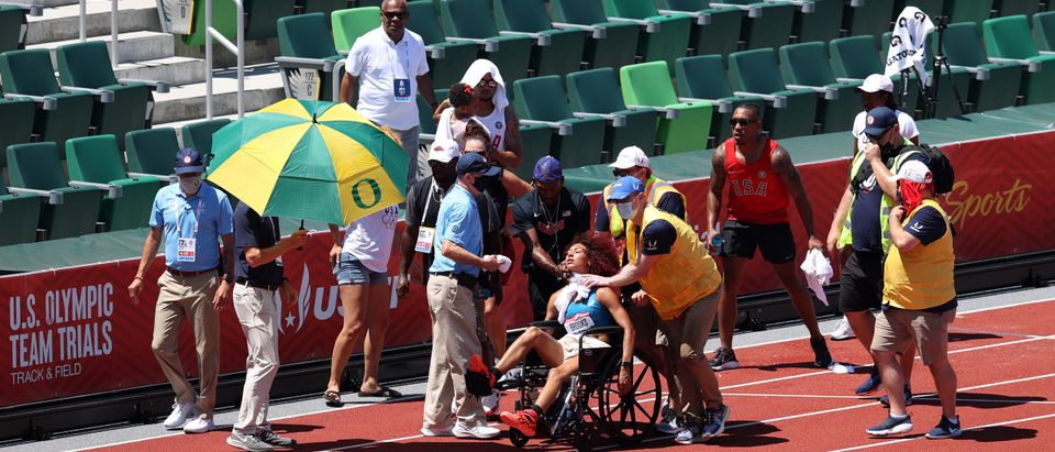 Competitor Faints At Olympic Trials Due To Extreme Heat | The Daily Caller
