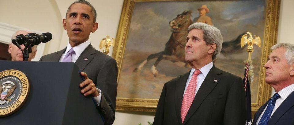 President Obama Delivers Statement On Legislation Authorizing Military Force Against ISIS