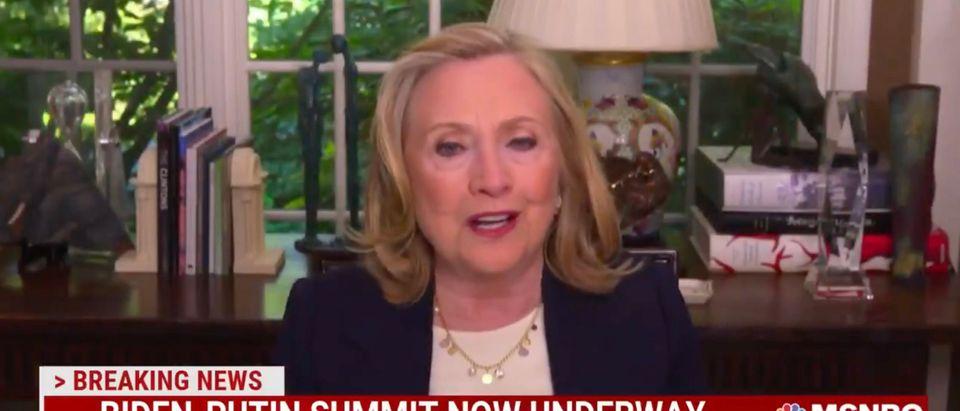 Hillary Clinton speaks on MSNBC's Morning Joe [Twitter:Screenshot:MSNBC]