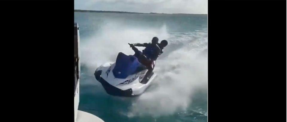 Jet Ski Crash (Credit: Screenshot/Instagram Video https://www.instagram.com/p/CP33adDJETh/)