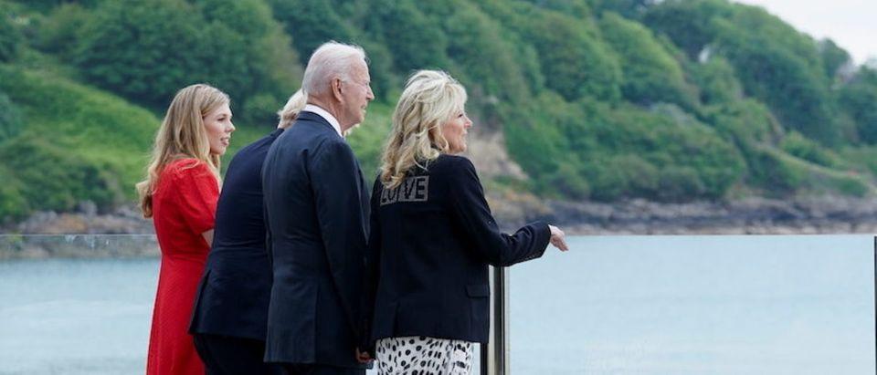 Britain's PM Johnson and U.S. President Biden meet ahead of G7