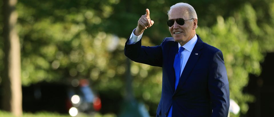 President Biden Departs White House En Route To Camp David For The Weekend