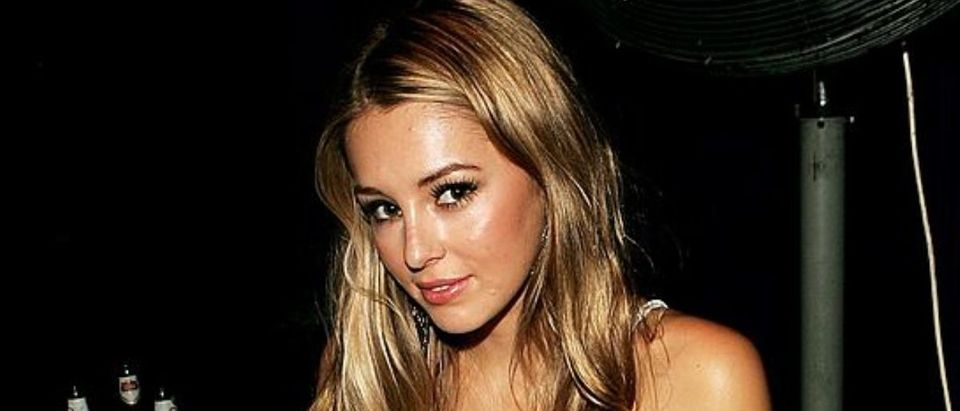 """LONDON - JULY 25: (UK TABLOID NEWSPAPERS OUT) Keeley Hazell attends the after-party following the UK premiere of """"The Simpsons Movie"""" at The O2, Greenwich on July 25, 2007 in London, England. (Photo by Claire Greenway/Getty Images)"""