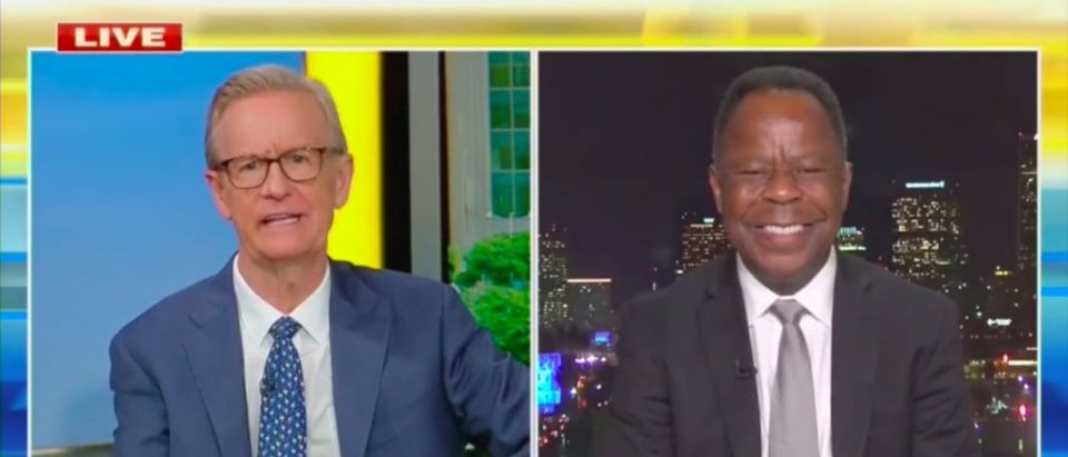 Leo Terrell tells Steve Doocy Obama is the last person on earth who should be promoting critical race theory. Screenshot. Fox News.