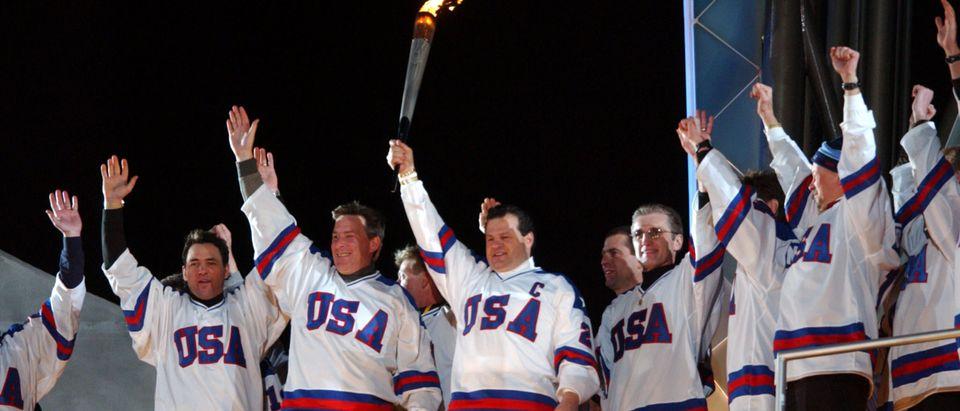OLY Opening Ceremony-Mike Eruzione-Flag Burning