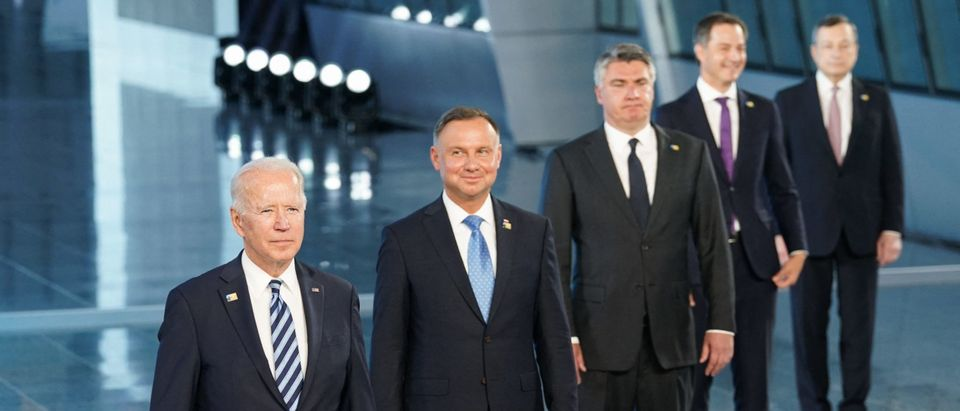 Biden and NATO leaders in Brussels