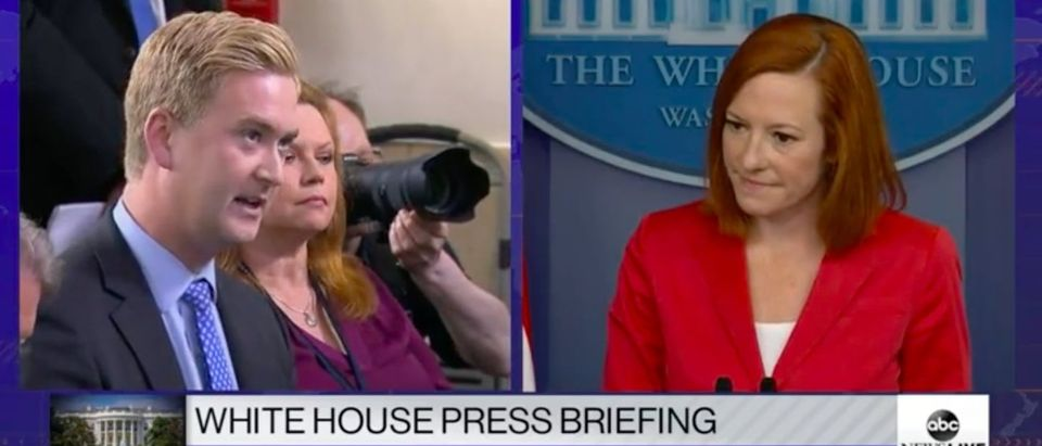 Psaki comments on Olympic Trials hammer thrower. Screenshot. Grabien. White House Press Conference.