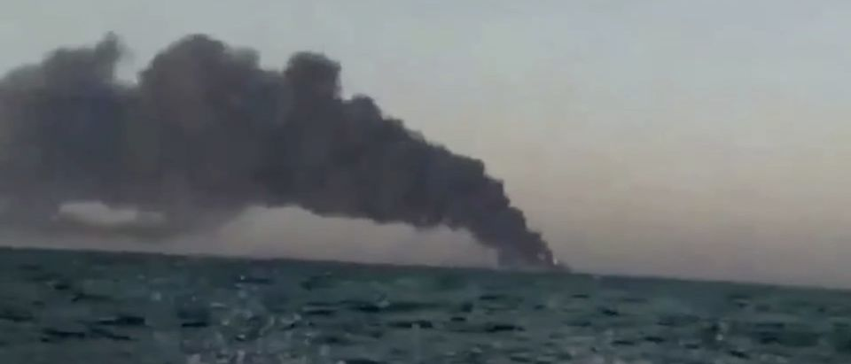 Iran's largest naval vessel, the Kharg, caught fire and later sank in the Gulf of Oman. The entire crew was able to safely disembark, the semi-official news agency Fars said, but offered no further explanation for the incident.