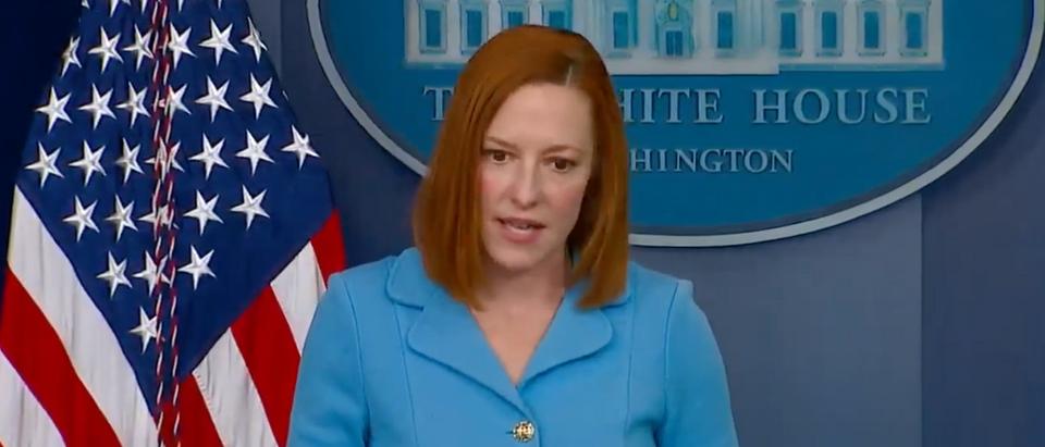 White House press secretary Jen Psaki downplayed Biden's comments about two Democratic senators. (Screenshot YouTube)