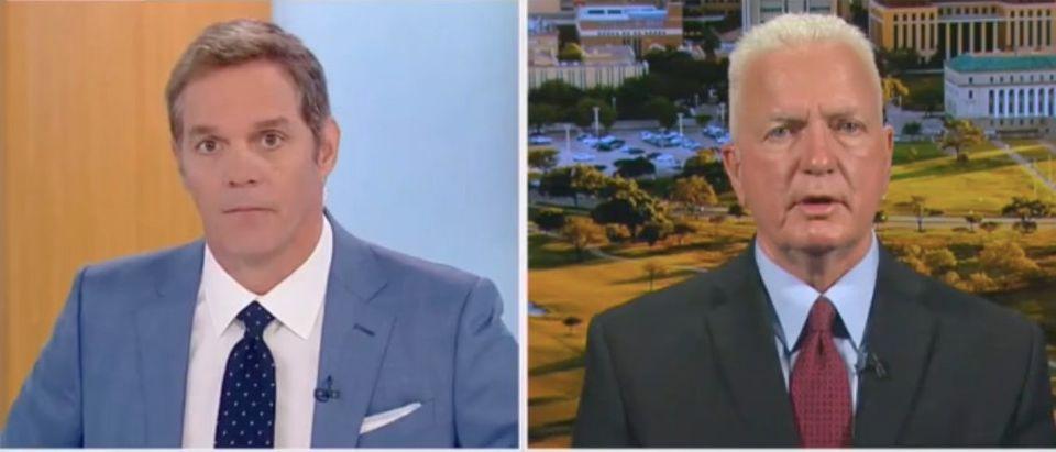 Bill Hemmer speaks with Admiral Brett Giroir about coronavirus origins. Screenshot/Fox News
