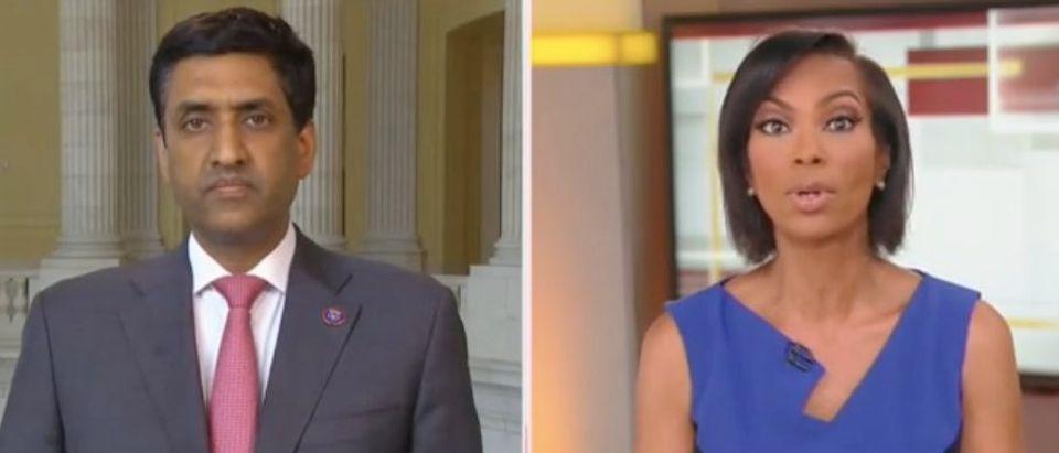 "Rep. Ro Khanna and Harris Faulkner appear on ""The Faulkner Focus."" Screenshot/Fox News"