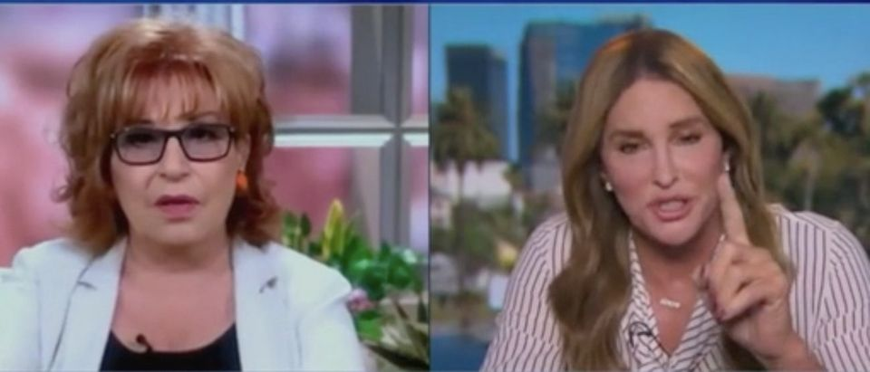 """Joy Behar and Caitlyn Jenner appear on """"The View."""" Screenshot/ABC"""