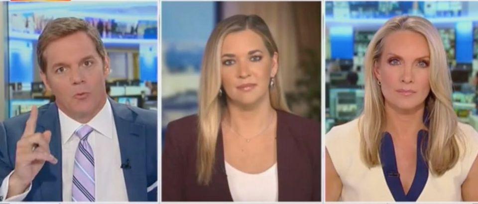 "Bill Hemmer, Katie Pavlich and Dana Perino appear on ""America's Newsroom."" Screenshot/Fox News"