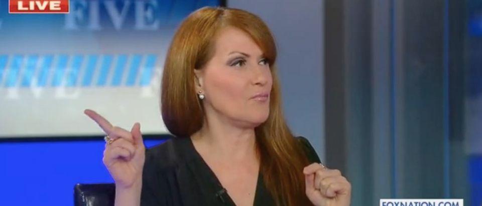 "Dagen McDowell appears on ""The Five."" Screenshot/Fox News"