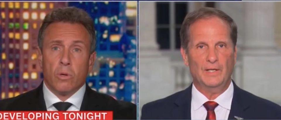 "Chris Cuomo and Rep. Chris Stewart appear on ""Cuomo Primetime."" Screenshot/CNN"