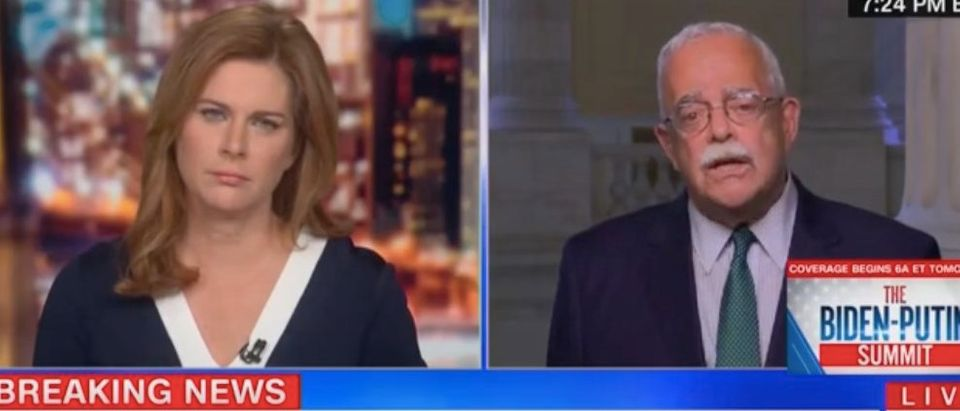 """Erin Burnett and Gerry Connolly appear on """"Out Front."""" Screenshot/CNN"""