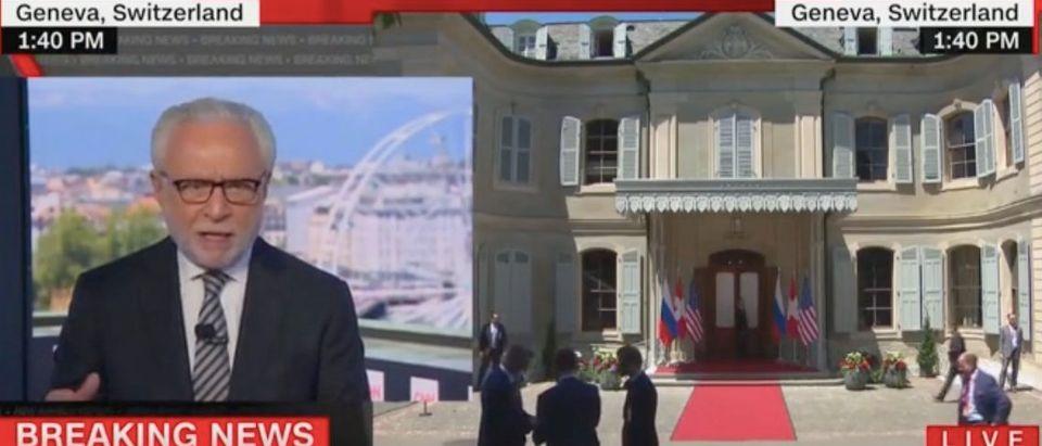 Wolf Blitzer addresses summit between President Joe Biden and Russian President Vladimir Putin. Screenshot/CNN