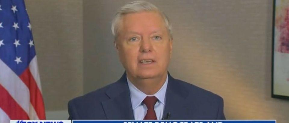 "Lindsey Graham appears on ""Fox News Sunday."" Screenshot/Fox"