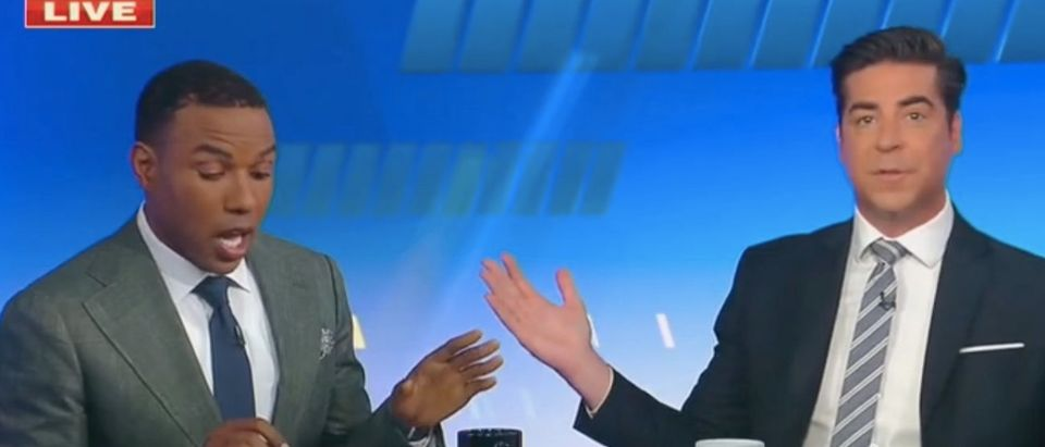 """Richard Fowler and Jesse Watters appear on """"The Five."""" Screenshot/Fox News"""