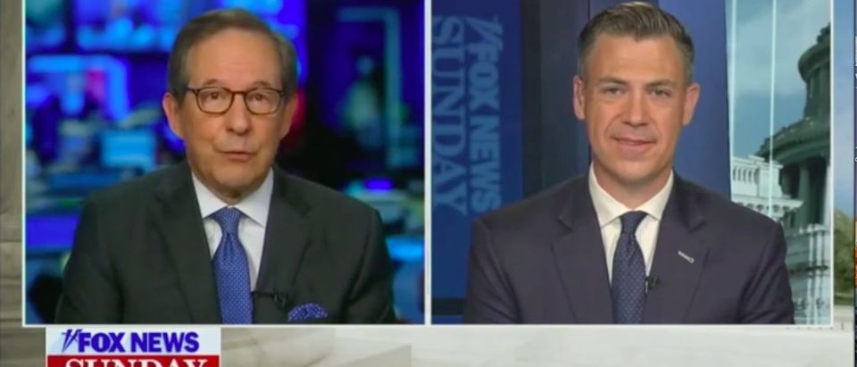 Wallace asks Banks if Republicans wanted to defund police. Screenshot. Grabien. Fox News.