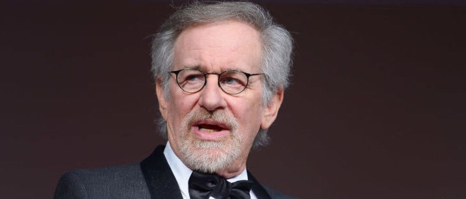 WASHINGTON, DC - NOVEMBER 19: Filmmaker and honoree Steven Spielberg speaks onstage at the Foundation for the National Archives 2013 Records of Achievement award ceremony and gala in honor of Steven Spielberg on November 19, 2013 in Washington, D.C. (Photo by Michael Loccisano/Getty Images for Foundation for the National Archives)