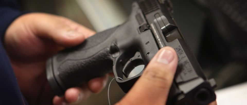 This is not the gun used in the reported shooting. Photo by Scott Olson. Getty.