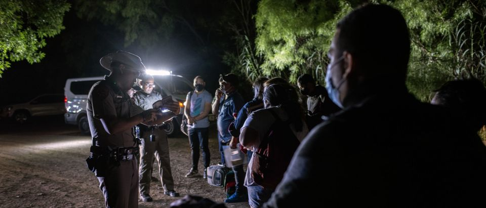 Undocumented Immigrants Attempt To Cross Texas Border