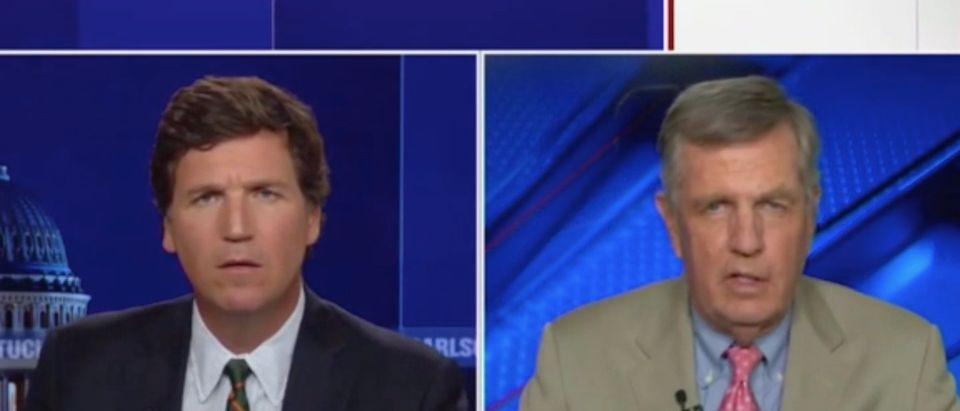 Tucker Carlson and Brit Hume