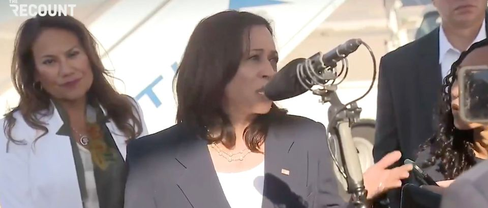 Vice President Kamala Harris visits Southern Border for first time as VP [Twitter:Screenshot:The Recount]