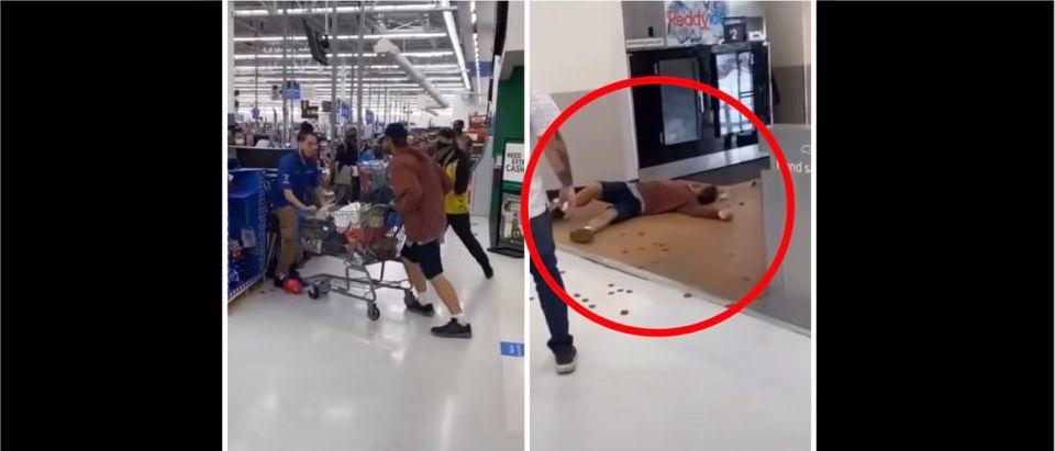 Walmart Knockout (Credit: Screenshot/YouTube https://youtu.be/BYgk4WXM2-I)
