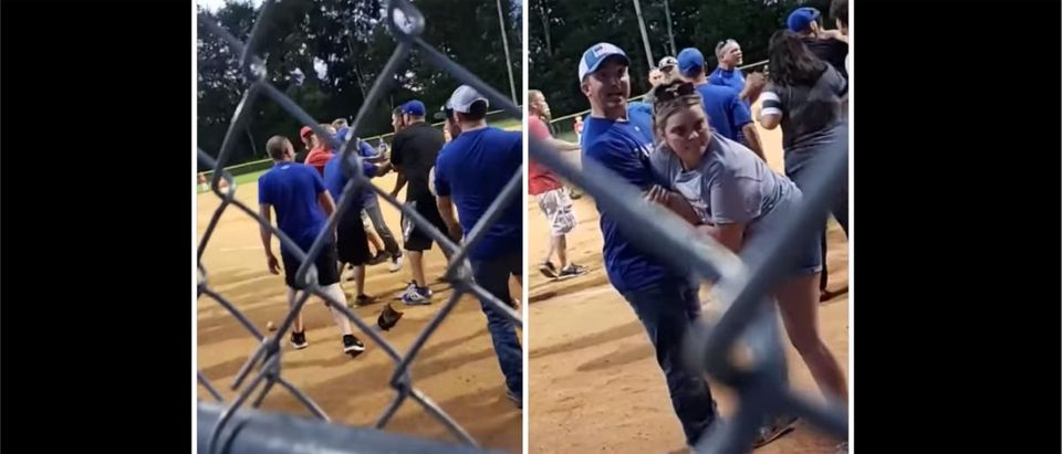 Youth Baseball Fight (Credit: Screenshot/Facebook https://www.facebook.com/100001862951095/videos/5752455374826504/)