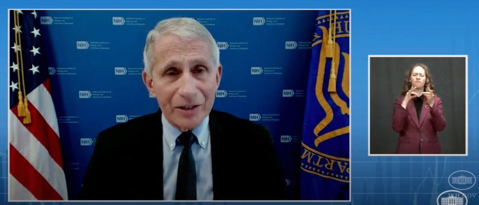 """Dr. Anthony Fauci warns Americans of the """"Delta"""" variant during Tuesday's press briefing. (Screenshot YouTube, The White House, https://www.youtube.com/watch?v=WpvWQKLXidU)"""