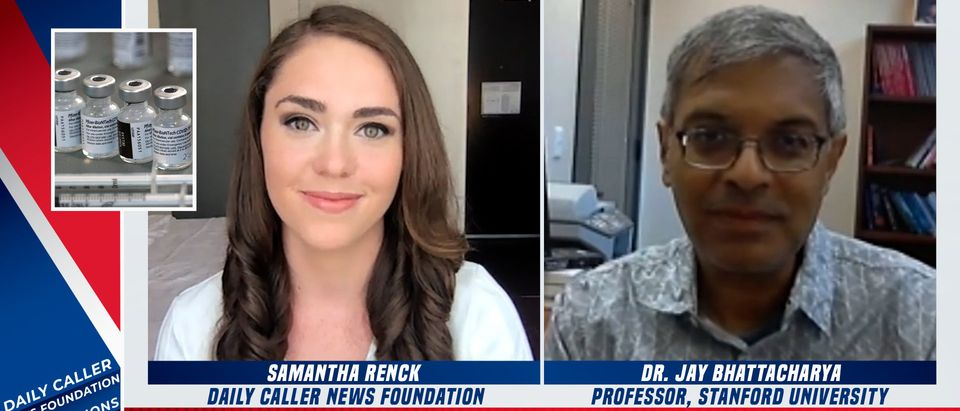 Dr. Jay Bhattacharya speaks with the Daily Caller News Foundation