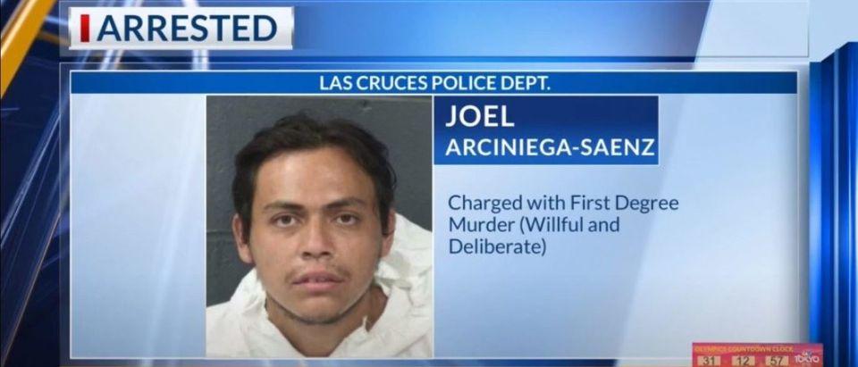 Murder suspect Joel Arciniega-Saenz. (YouTube/Screenshot/KTSM 9 NEWS)