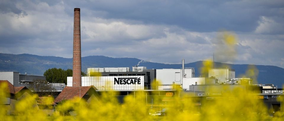 A Nestle Nescafe factory in Switzerland. (Photo by FABRICE COFFRINI/AFP via Getty Images)