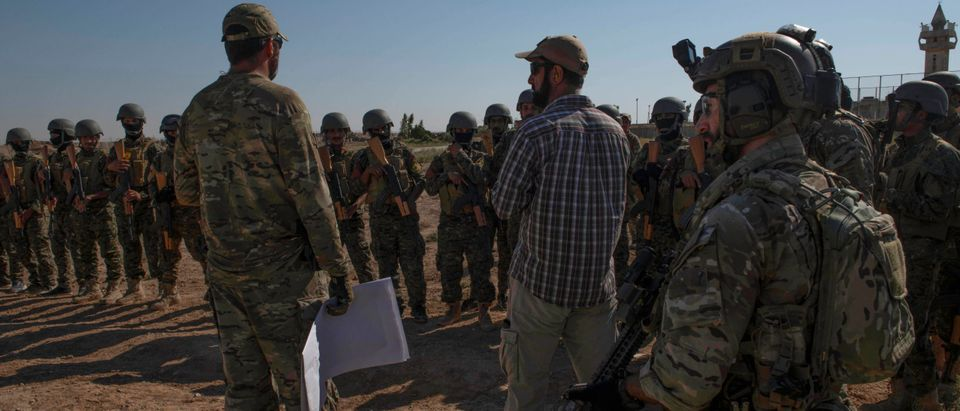 Coalition forces train partner force commandos in Syria